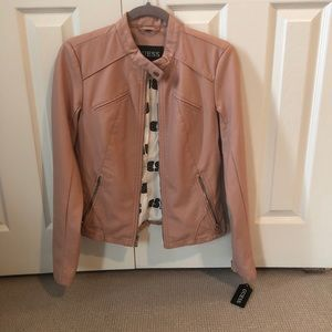 Guess pink faux leather jacket - new with tags- S